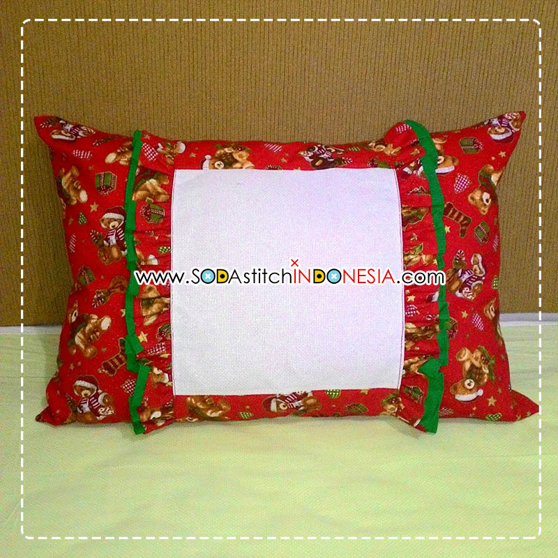 Sodastitch Indonesia CUS-40-60-02 - Christmas Teddy Bear Cushion