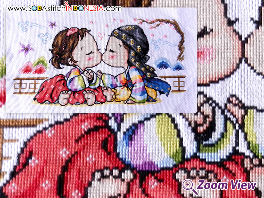 Sodastitch Indonesia FIN-SO-G38 - Finished Young Girl and Young Boy