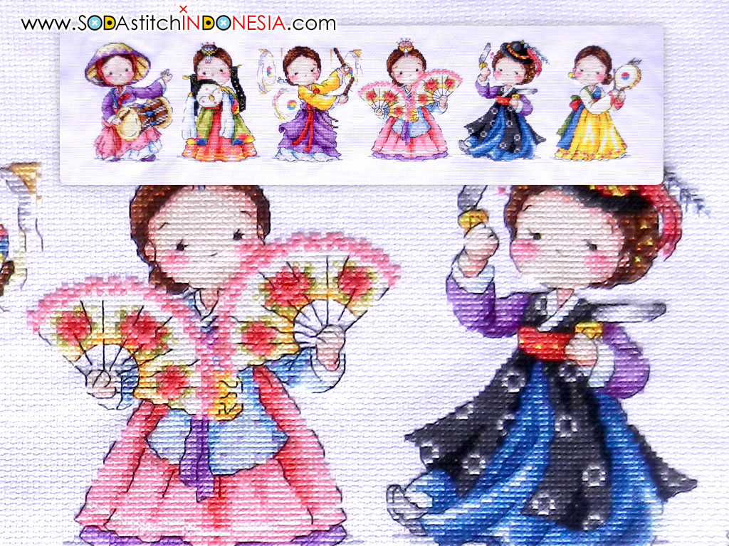 Sodastitch Indonesia FIN-SO-G45 - Finished The Traditional Dance Of Korea