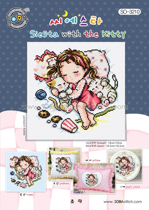 Sodastitch Indonesia PKT-SO-3210 - Paket Siesta With The Kitty