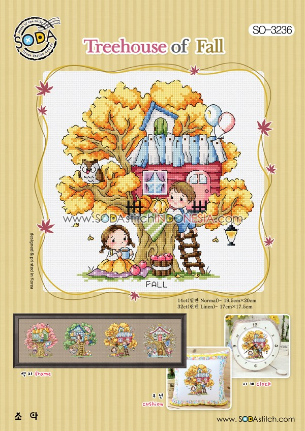 Sodastitch Indonesia PKT-SO-3236 - Paket Treehouse Of Fall