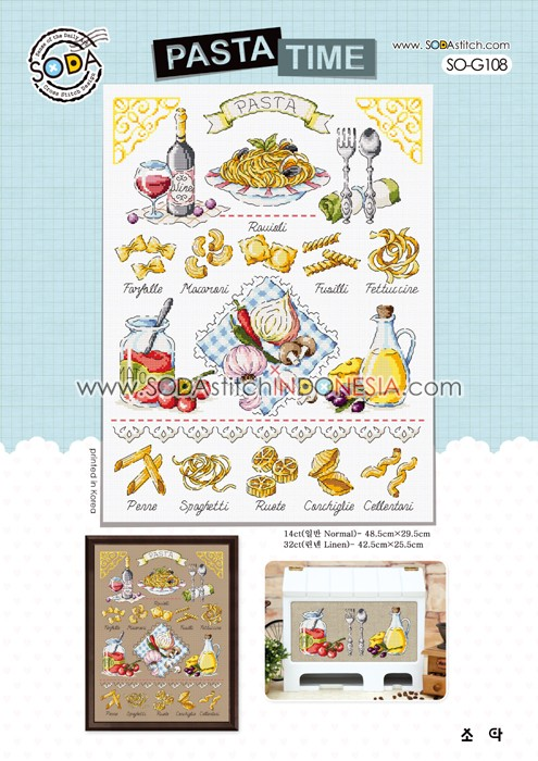 Sodastitch Indonesia PKT-SO-G108 - Paket Pasta Time