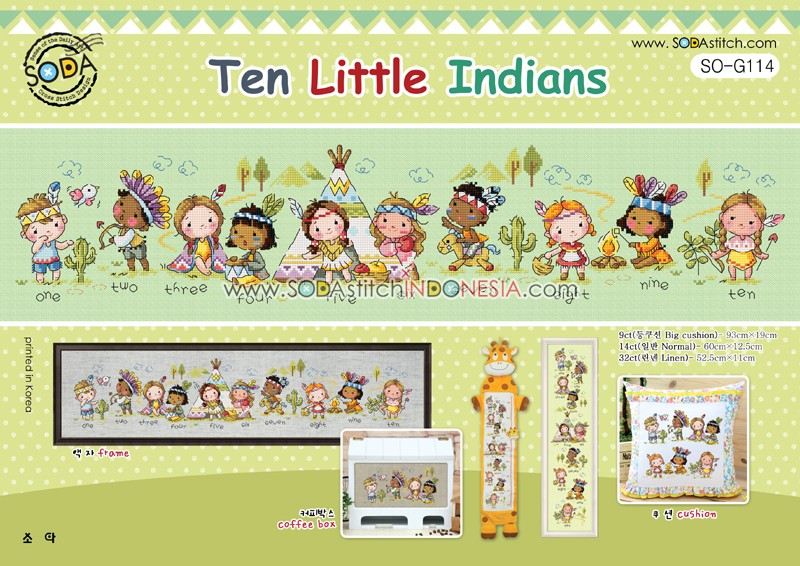 Sodastitch Indonesia PKT-SO-G114 - Paket Ten Little Indians