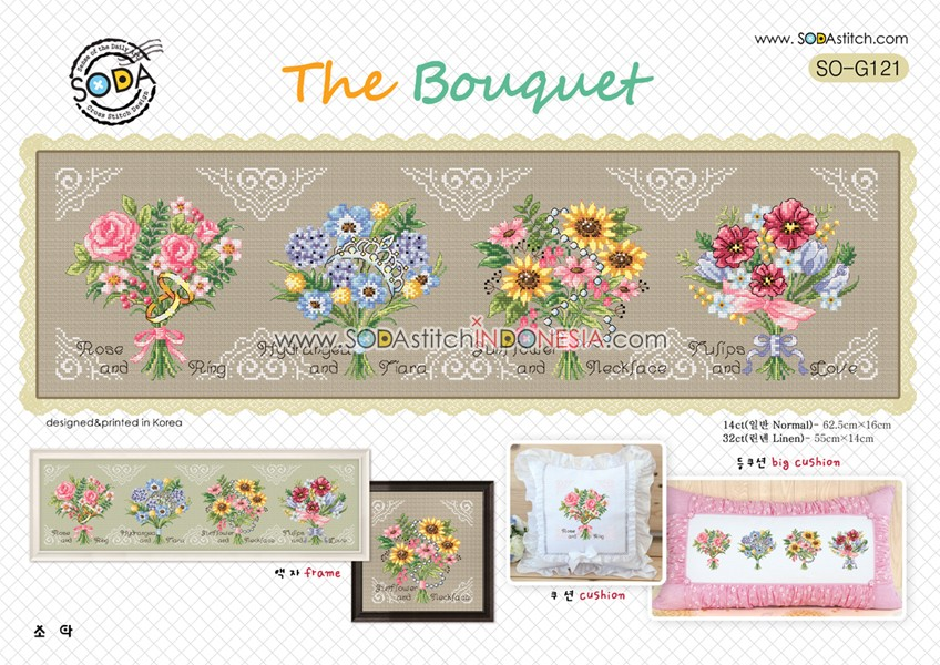 Sodastitch Indonesia PKT-SO-G121 - Paket The Bouquet