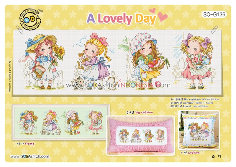 Sodastitch Indonesia PKT-SO-G136 - Paket A Lovely Day