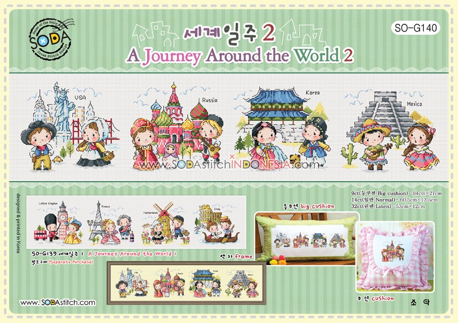 Sodastitch Indonesia PKT-SO-G140 - Paket A Journey Around The World 2