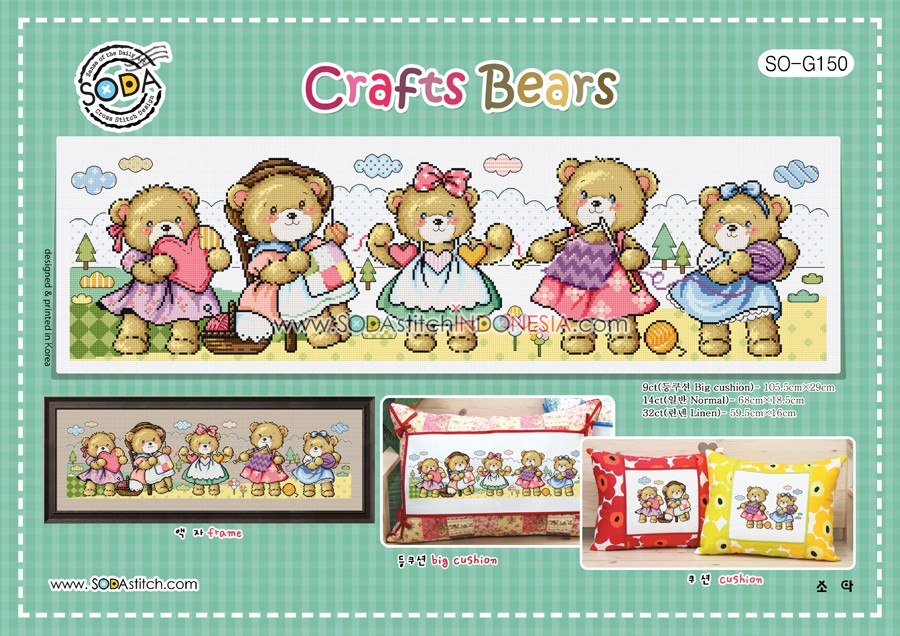 Sodastitch Indonesia PKT-SO-G150 - Paket Sodastitch - Paket Crafts Bears