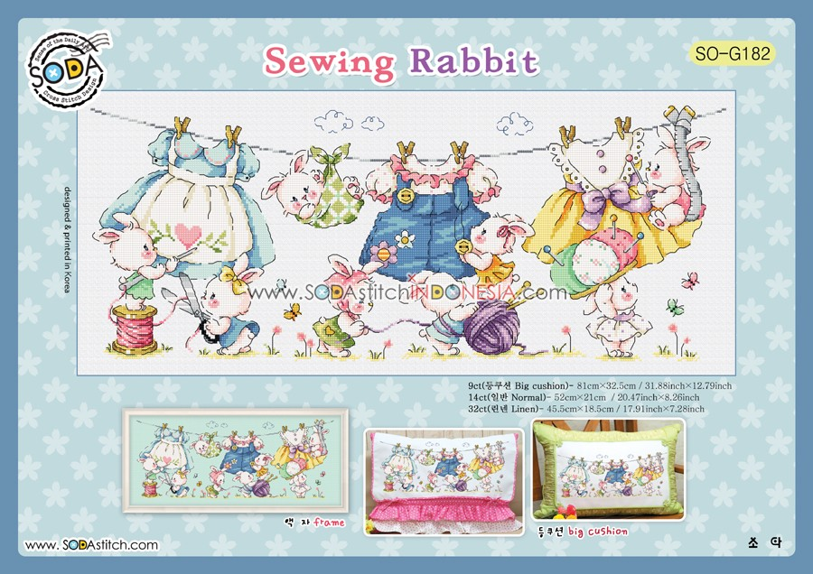 Sodastitch Indonesia PKT-SO-G182 - Paket Sodastitch - Sewing Rabbit