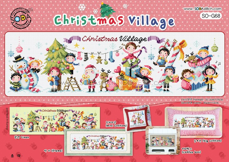 Sodastitch Indonesia PKT-SO-G68 - Paket Christmas Village