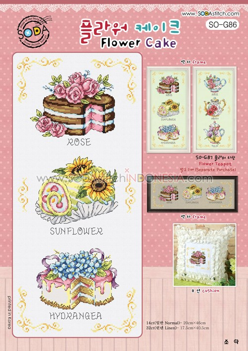 Sodastitch Indonesia PKT-SO-G86 - Paket Flower Cake
