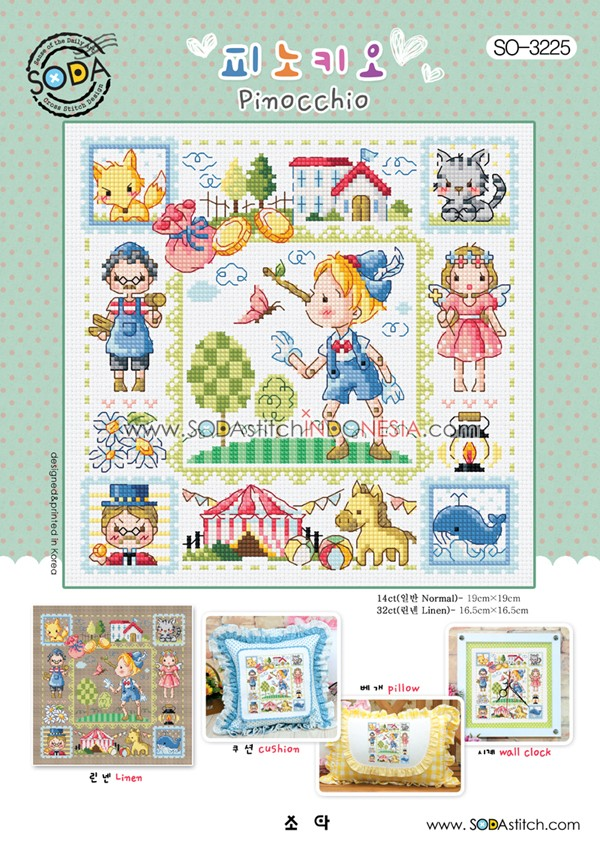 Sodastitch Indonesia SO-3225 - Pinocchio