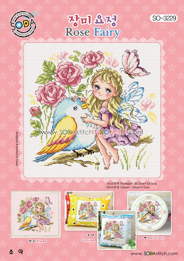 Sodastitch Indonesia SO-3229 - Pola Sodastitch - Rose Fairy