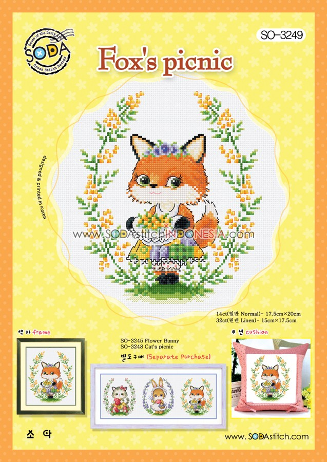 Sodastitch Indonesia SO-3249 - Pola Sodastitch - Fox Picnic