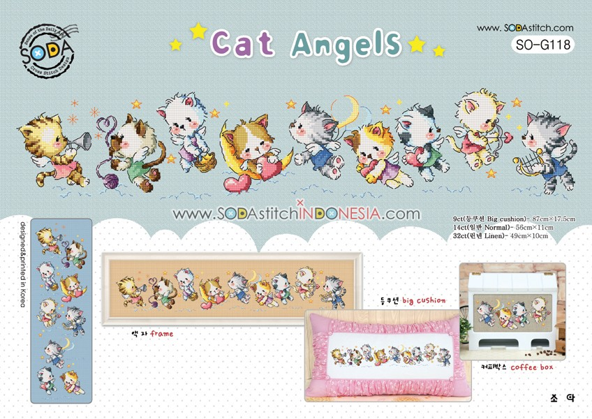 Sodastitch Indonesia SO-G118 - Cat Angels