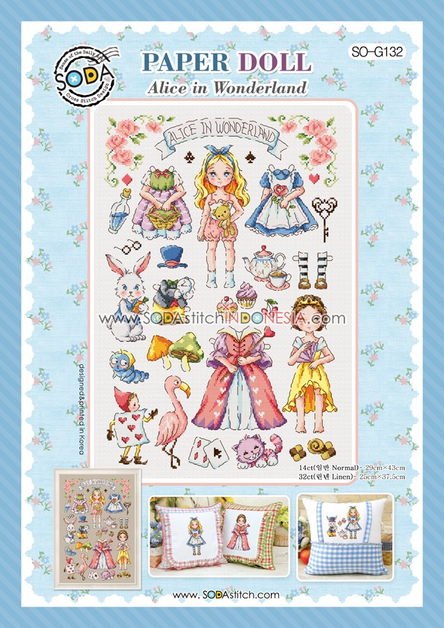 Sodastitch Indonesia SO-G132 - Paper Doll : Alice In Wonderland