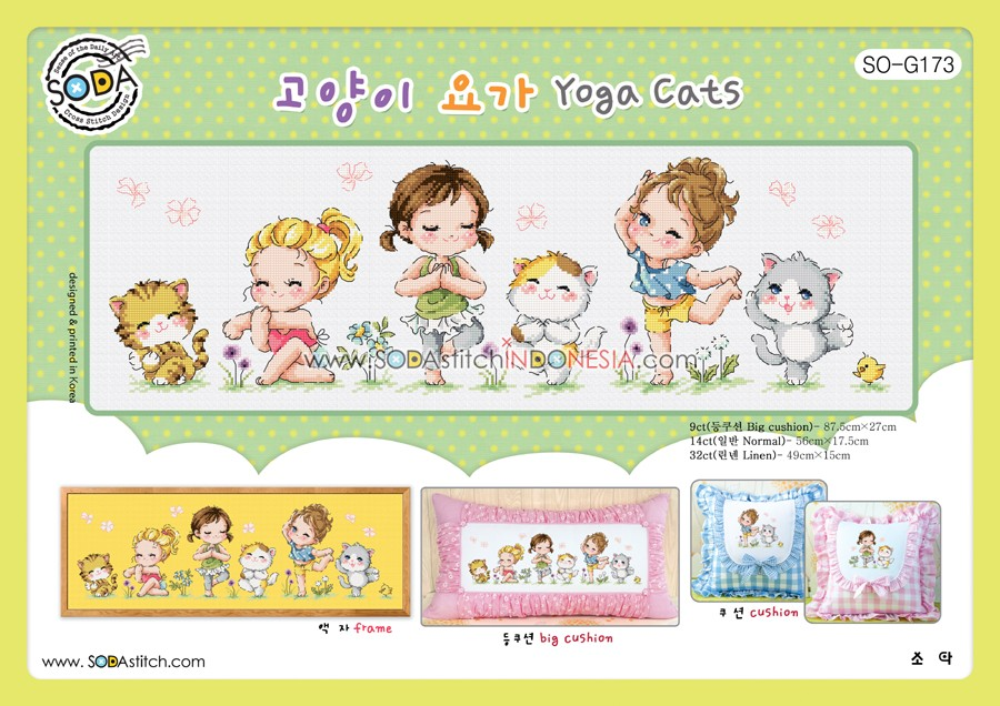 Sodastitch Indonesia SO-G173 - Pola Sodastitch - Yoga Cats