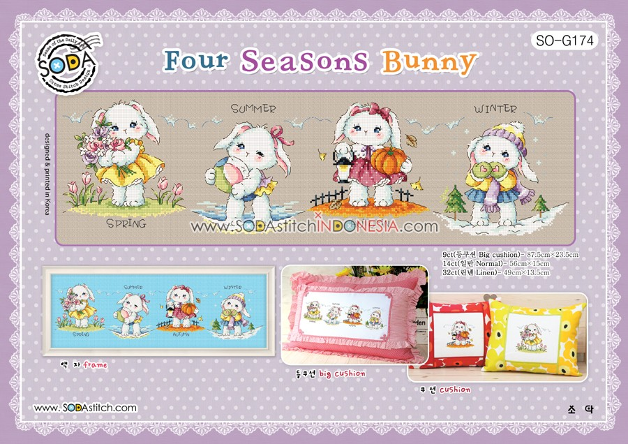 Sodastitch Indonesia SO-G174 - Pola Sodastitch - Four Seasons Bunny