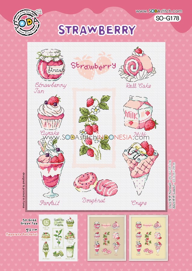 Sodastitch Indonesia SO-G178 - Pola Sodastitch - Strawberry