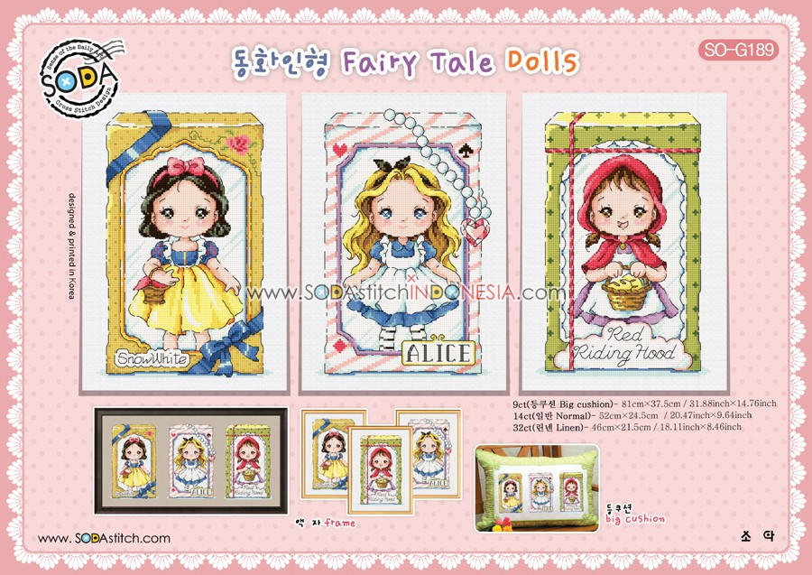 Sodastitch Indonesia SO-G189 - Pola Sodastitch - Fairy Tale Dolls