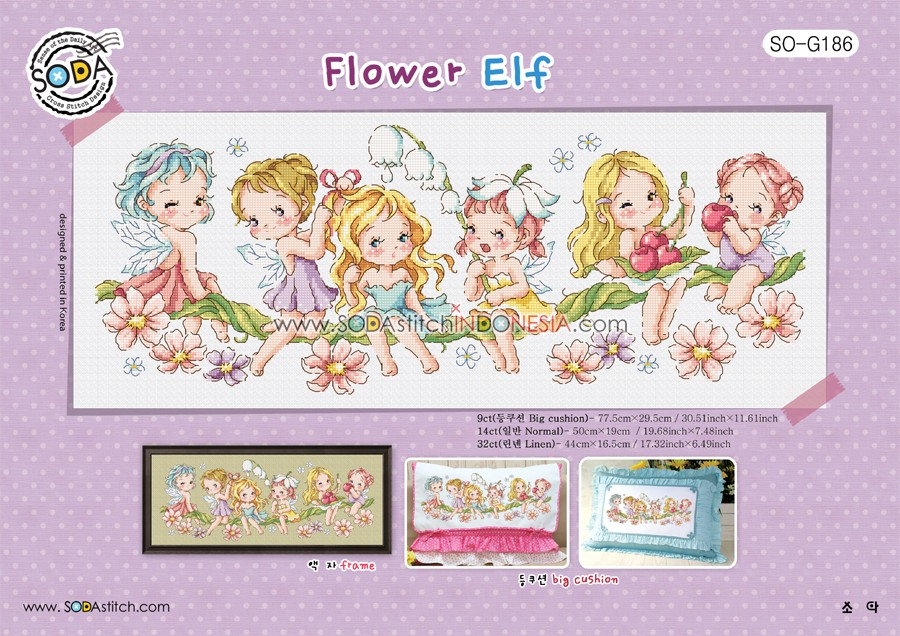 Sodastitch Indonesia PKT-SO-G186 - Paket Sodastitch - Flower Elf