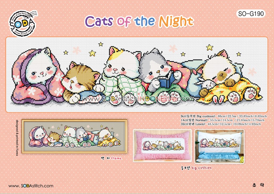 Sodastitch Indonesia SO-G190 - Pola Sodastitch - Cats Of The Night